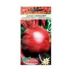 Torseed 100 Nasion Otoczkowanych Burak Ćwikłowy Czerwona Kula Nasiona Zaprawiane