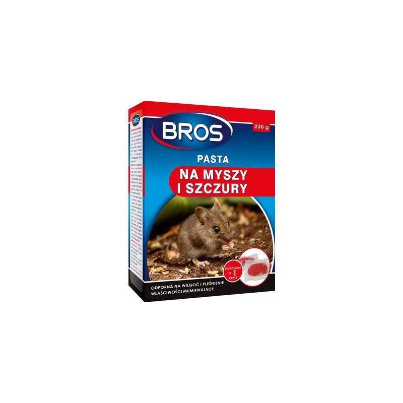 Bros 230g Pasta na myszy i szczury odporna na wilgoć i pleśnienie