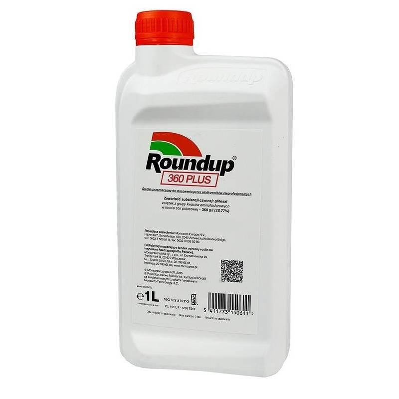 Monsanto 1L Roundup 360 PLUS SL Środek na chwasty Randap Rondup