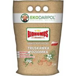 Ekodarpol 1 l Biohumus Extra truskawka poziomka nawóz sypki wspiera system korzeniowy