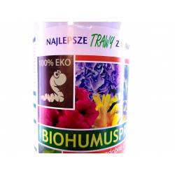 Iława 1l Biohumus Pro kwiaty ozdobne z liści i kwitnące EKO nawóz najlepszy