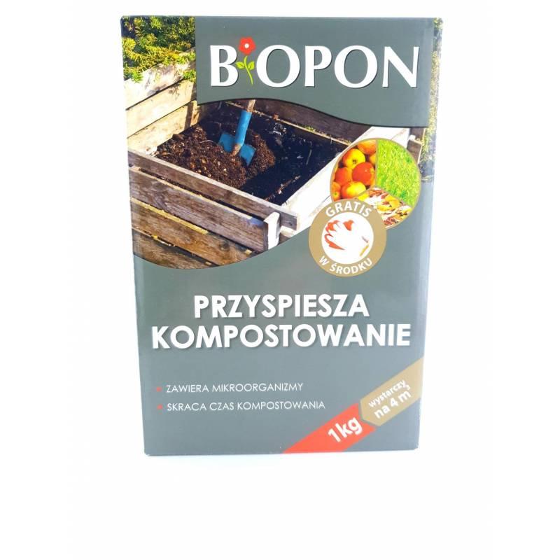 Biopon 1kg Komposter + rękawice gratis przyspiesza kompostowanie pryzma kompostowa