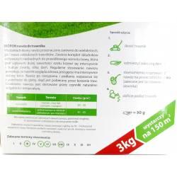 Biopon 3kg Nawóz do trawnika równomierny wzrost trawy soczysta zieleń