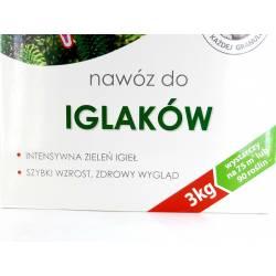 Biopon 3kg Nawóz do iglaków mineralny na wiosnę żywotników tuj świerków jałowców iglaki granulowany
