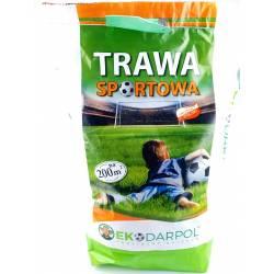 Ekodarpol 5kg Trawa sportowa gazonowa boiskowa trawnik nasiona mieszanka 200m2 odporna na deptanie