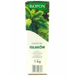 Biopon 1 kg Nawóz do iglaków intensywna zieleń zdrowych roślin