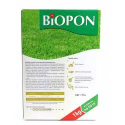 Biopon 1 kg Nawóz do trawnika przeciw żółknięciu trawnik bez żółtych plam