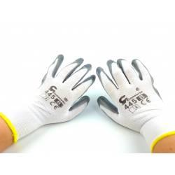 Rękawice szare 445 rozmiar 8 robocze odporne wygodne lekkie