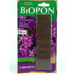 Biopon 30szt. Pałeczki nawozowe z mikoryzą kwiaty balkonowe i doniczkowe