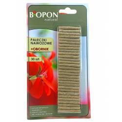 Biopon 30szt. Pałeczki nawozowe z obornikiem kwiaty balkonowe i doniczkowe
