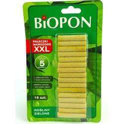 Biopon 15szt. Pałeczki nawozowe XXL do domowych roślin zielonych długo działające