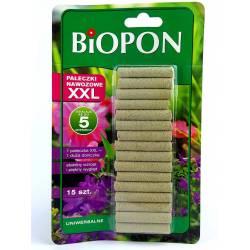 Biopon 15szt. Pałeczki nawozowe XXL uniwersalne długodziałające 5 miesięcy