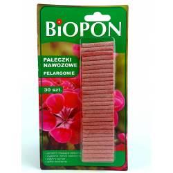 Biopon 30szt. Pałeczki nawozowe do pelargonii muszkatli wieloskładnikowe