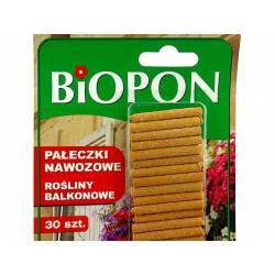 Biopon 30szt. Pałeczki nawozowe do roślin balkonowych begonie surfinie