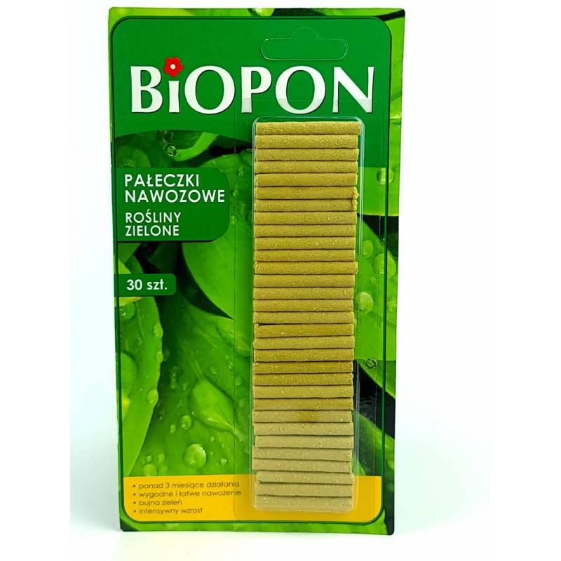 Biopon 30szt. Pałeczki nawozowe do roślin zielonych działają 100 dni