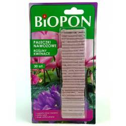 Biopon 30szt. Pałeczki nawozowe do roślin kwitnących działają 100 dni