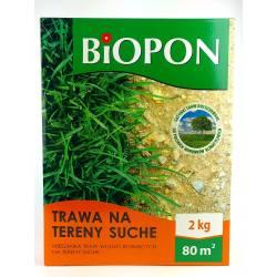 Biopon 2 kg Trawa mieszanka traw na tereny suche bez wody
